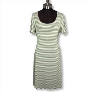 EUC Tommy Bahama Green Casual Striped Midi Dress